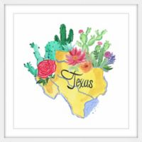 Marmont Hill Flowering Texas 18-Inch Square Framed Wall Art