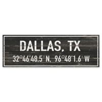 "Marmont Hill ""Dallas Pinpointed"" 30-Inch x 10-Inch Wooden Wall Art"