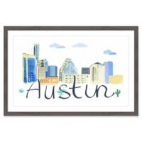 Marmont Hill Austin Cityscape 24-Inch x 16-Inch Framed Wall Art
