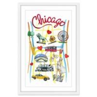 Marmont Hill Exciting Chicago 12-Inch x 18-Inch Framed Wall Art