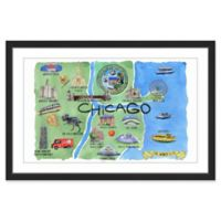 Marmont Hill Rivers of Chicago 60-Inch x 40-Inch Framed Wall Art