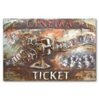 Benjamin Parker 3D Retro Movie Project Metal Art