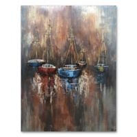 Benjamin Parker3D Boats on the Sea Metal Wall Art