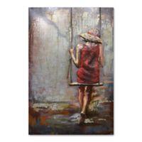 Benjamin Parker 3D Girl on a Swing Metal Wall Art