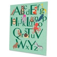 Astra Art Alphabet Animals 11-Inch x 14-Inch Metal Wall Art in Green