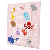 Astra Art Alphabet Animals 20-Inch x 24-Inch Metal Wall Art in Rose