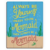 Astra Art Always Be Yourself 14-Inch x 11-Inch Wood Wall Art