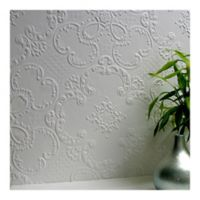 Alfred Supaglypta Paintable Wallpaper in White