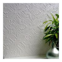 Howard Paintable Supaglypta Wallpaper in White