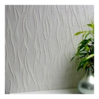 Caiger Textured Vinyl Wallpaper in White