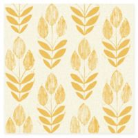 Beacon House Block Print Tulip Wallpaper in Yellow