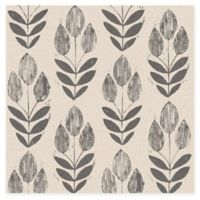 Beacon House Block Print Tulip Wallpaper in Black
