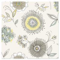 Brewster Kitchen & Bath Maisie Floral Burst Wallpaper in Green