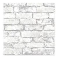 Beacon House Oxford Brickwork Wallpaper in Light Grey