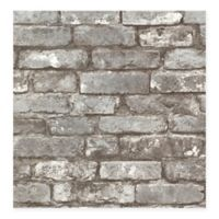 Beacon House Oxford Brickwork Wallpaper in Pewter