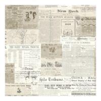 Gazette Vintage Newsprint Wallpaper in Khaki