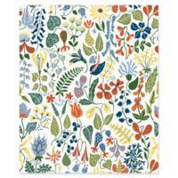 Herbarium Floral Motif Wallpaper in White