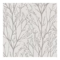 Brewster Bath Bath Bath IV Delamere Pewter Tree Branches Wallpaper