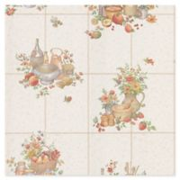 Brewster Home Fashions Pajer Vintage Fruit Tile Wallpaper in Mauve