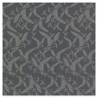 Lari Bird Wall Paper in Charcoal