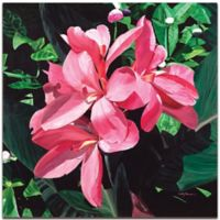 Metal Art Studio Exotic Lilies 22-Inch x 22-Inch Metal Wall Art