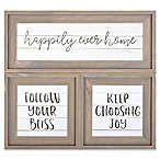"""Family Sentiments"" 3-Piece Wood Wall Art Set"