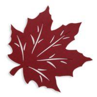 Felt Leaf Placemat in Wine