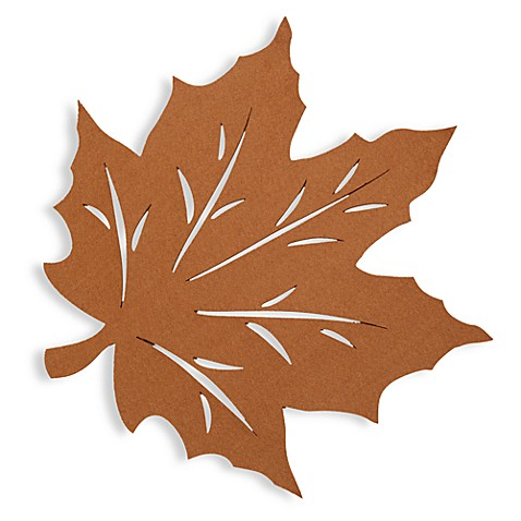 Buy Felt Leaf Placemat In Bronze From Bed Bath Amp Beyond