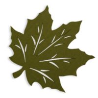 Felt Leaf Placemat in Green