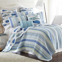 Levtex Home Calla Reversible Twin Quilt Set in Blue