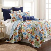Levtex Home Tajana Reversible King Quilt Set in Blue/Green