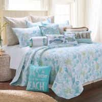 Levtex Home Kos King Quilt Set in Blue/White