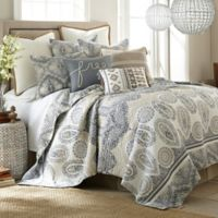Levtex Home Marcell Reversible Twin Quilt Set in Blue/Tan