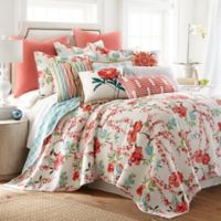 Levtex Home Martha Floral Reversible Full/Queen Quilt Set in Red