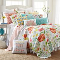 Levtex Home Kaitlyn Reversible King Quilt Set in White/Red