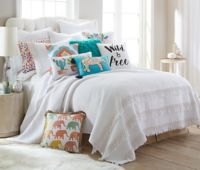 Levtex Home Nadya King Quilt Set in White