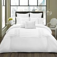 City Scene Triple Diamond 3-Piece Full/Queen Comforter in White