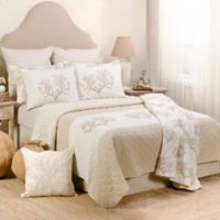 Levtex Home Anemone Reversible King Quilt Set in Beige
