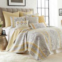 Levtex Home Katja Reversible King Quilt Set in Gold