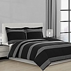 Suffolk Full/Queen Comforter Set in Charcoal