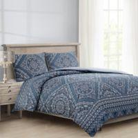 Zoelle Full/Queen Comforter Set in Navy