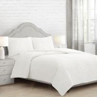 Eira King Comforter Set in White