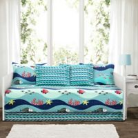 Lush Décor Sealife Daybed Set in Blue