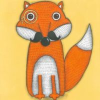 Marmont Hill A Fox with Mustache 18-Inch Square Canvas Wall Art
