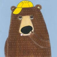 Marmont Hill Smart Bear 24-Inch Square Canvas Wall Art