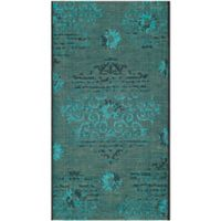 Safavieh Palazzo Olen 2-Foot 6-Inch x 5-Foot Accent Rug in Black/Turquoise