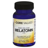 Core Values™ 60-Count 10 mg. Melatonin Timed Release Tablets