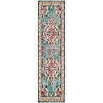 Safavieh Monaco Vintage Bohemian 2-Foot 2-Inch x 6-Foot Runner in Light Blue/Fuchsia