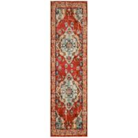 Safavieh Monaco Vintage Bohemian 2-Foot 2-Inch x 6-Foot Runner in Orange/Light Blue