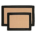 Nottingham Home Faux Fleece Memory Foam Bath Mat (Set of 2) in Black
